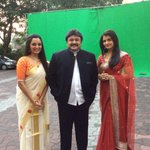 RT @Cine_Alasal: #Prabhu sir wth #AishwaryaBachchan & #ManjuWarrier at a Kalyan Jewellers shooting in Mumbai. thanks @diamondbabu4