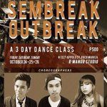 RT @aronalcantara: @ACest2011 presents: SEMBREAK OUTBREAK 3 Days Dance Class 500 PHP ONLY Oct 24,25,26 3-5PM Please contact 09368838110 http://t.co/LiMfcQ2gNU
