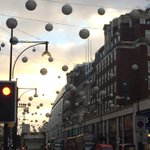 Christmas decorations are up in Oxford St - well it is October after all #london http://t.co/ERbFIVY8L7