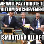 The government pays tribute to Whitlam. #auspol #RoastTV http://t.co/IqayliQTVR