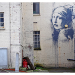 Banksy parodies Girl With a Pearl Earring in new painting http://t.co/9xwb8M9bDD