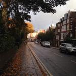 Sunshine battling vs. hurricane Gonzalo in hampstead village this morning... http://t.co/lG6epeYicq
