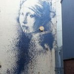 Bristols brand new Banksy mural has already been damaged. Splattered with paint after just a few hours. http://t.co/n6DdA7509q