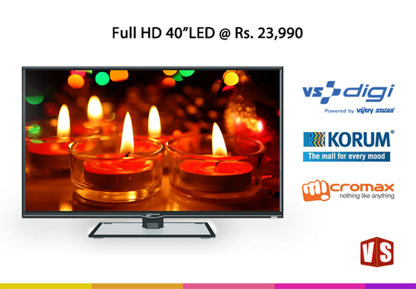 "Diwali Dhamaka – Offer on  Micromax 40"" Full HD LED TV with  our newly opened VS Digi Store at Korum Mall Thane http://t.co/KmlGeoL4G4"