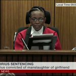 """RT @BBCBreaking: """"A non-custodial sentence would send wrong message to the community"""" - Judge Masipa jails #OscarPistorius for 5 years http://t.co/vwijiq4pgi"""