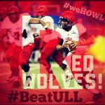 Its GAMEDAY! #weHOWL for our #RedWolves on #ESPN2 tonight - 7pm! #WolvesUP #BeatULL @AStateRedWolves @RedWolvesFBall http://t.co/SSnsgaKYIQ