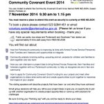 Whos coming to the Community Covenant Event 2014? Hopefully well see you there. #SocEnt #Portsmouth http://t.co/NrsAouRu7C