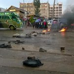 Avoid Kamiti road at canopy road blocked by youths cc @PoliceKE @Ma3Route http://t.co/3YLw80w7YV