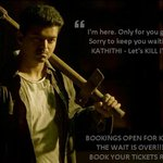 Bookings open for #Kaththi!!!! Book your tickets now!!! http://t.co/cP9L4wlKZ4 @ARMurugadoss @anirudhofficial http://t.co/ZSLnakUGi9
