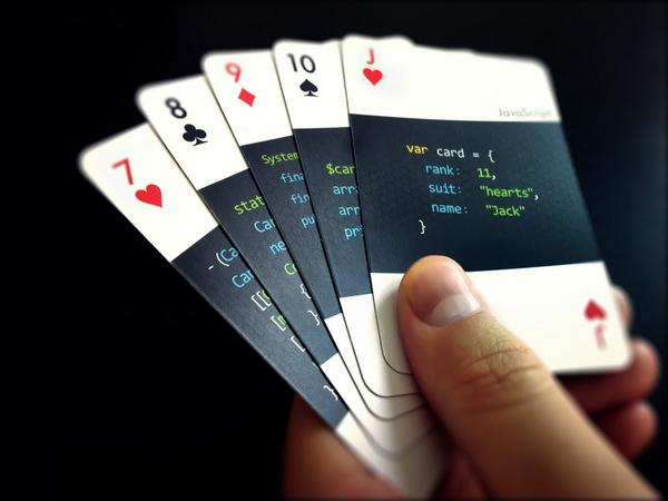 Playing cards for developers http://t.co/rnsTP9s0He // how nice! http://t.co/0c9B4oLZQw