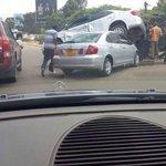 RT @Ma3Route: #Tunavamiwa: Who dropping cars from the sky ?? #Nairobi is under attack! http://t.co/eBYI6Flipu via @iAlen