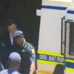 EARLIER! #OscarPistorius walking into the police van.. about to make his way to Kgosi Mampuru Prison.. http://t.co/ele3rN7TAi