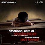 RT @UNICEFCambodia: Violence comes in 3 forms - emotional, physical & sexual. This is what emotional violence is. #ENDviolence http://t.co/5BOJkYBniI