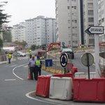 Conexion de Pablo Picasso y Glasgow cortada desde ya por obras de la tercera ronda.#Coruña http://t.co/WxnKCQzmwy