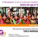 RT @BDGirlSummit: 6 more days for #Bangladesh to host the 1st #girlsummit of #Asia! Lets #endchildmarriage & empower girls! #BDGS2014. http://t.co/k6TZW6ewYt