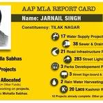 RT @kumarshashwat97: Report card of AAP MLA @JarnailSinghAAP of Tilaknagar.We want such MLAs in entire Delhi.Thats y #KejriwalFirSe. http://t.co/PMm1XifQkT