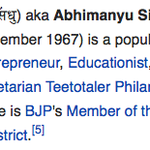 RT @roshankar: Manohar Khattar becomes Haryana CM. Haryana misses out on Captain Abhimanyu, the worlds best Wikipedia editor as CM. http://t.co/KNZEypOAh5