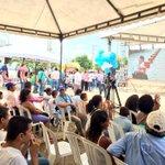 En minutos alcalde colocara la primera piedra del nuevo #CentroDeSaludDeBastidas. #SantaMartaEstáCambiando. http://t.co/wxQt75b07w