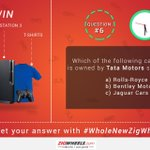 Tweet the Answer with #WholeNewZigWheels and Win a PS3 and Other Exciting Prizes! Go On, Tweet NOW! #HappyDhanteras! http://t.co/eyZDuTZoR9