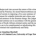 RT @RobynCurnowCNN: This statement from Prof Jonathan Burchell whos written the leading text books on criminal law #oscarpistorius http://t.co/UqNeXw1tca