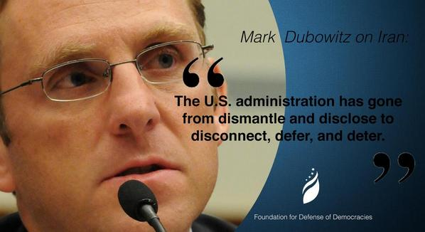 ".@dubo1968:""U.S. administration has gone from dismantle and disclose to disconnect, defer, and deter"" #BadDeal #Iran http://t.co/6MNYLROypJ"