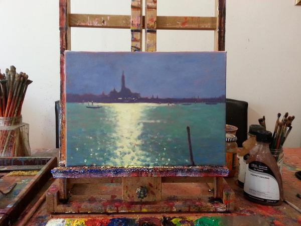 Todays wip ..my favourite subject Venice and  sunshine on water  :-) http://t.co/XUqfbEyv4D