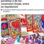"""Fiesta, el fabricante de chupachups Kojak entra en liquidación. Acho, siempre nos quedará """"Fini"""". http://t.co/g348QJZUtl"""