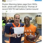 ICYMI: Peyton Manning had a throwback celebration for his new record on Sunday. (via @mortreport) http://t.co/Z7sGtNX3PV