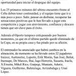 RT @8JULENGUERRERO: Vuelve la Champions, y desde las 20,15 h estaré en @carrusel Champions analizando el Oporto-Athletic. Es un buena... http://t.co/PRGdvpo5cR