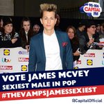 RT @CapitalOfficial: Hey @TheVampsJames youve been nominated for Sexiest Male in Pop ;) Good luck! #TheVampsJamesSexiest http://t.co/zTnkm8IbnK