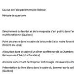 21/10/2014 Activités des ministres #PLQ #PolQc #Assnat http://t.co/wP4Tex6vbM