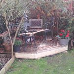 RT @TBriddy: Finally finished pallet decking at weekend, just in time 4, er, autumn. Thx @BristolWRP for providing last few pieces http://t.co/PyVaDFAtFT