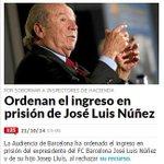 Ahora Núñez.Habrá quien crea que el FC Barcelona es un partido político con trasfondo deportivo creado para delinquir http://t.co/Aw9Vg9TMzM