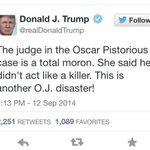 """Uncle Donald has zero chill. #DonaldTrump for Africa """"president"""" #OscarTrial http://t.co/fiVCuXgySZ"""