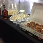 Only in Kentucky: donuts & bourbon for Governors press conference. http://t.co/hHtObfJFRJ