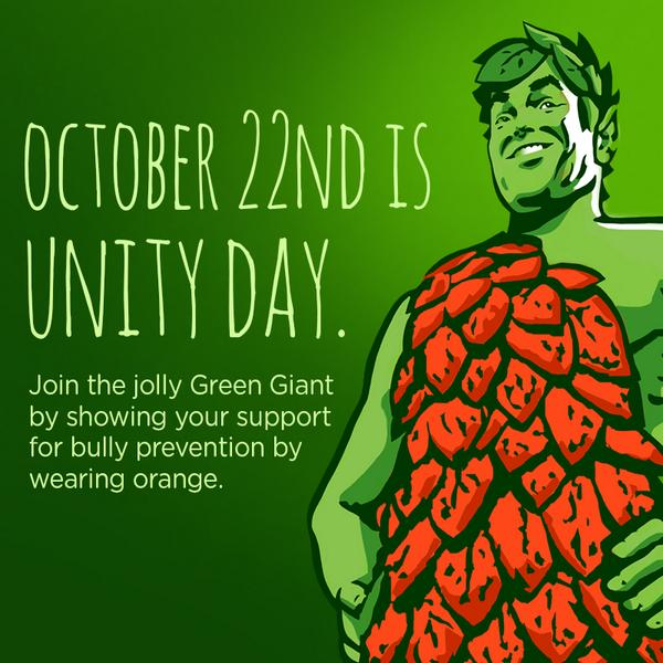 Show your support for bully prevention by wearing orange tomorrow on #UnityDay2014! http://t.co/FuHo39CqOp