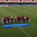 De A-junioren van #Ajax en FC Barcelona samen op de foto @UEFAYouthLeague #baraja