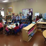 """First-year #OKState med students at Eugene Field Elementary today as part of the """"Developing the Physician"""" class. http://t.co/ZBXxWHnC8g"""