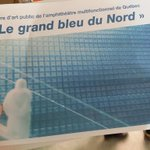 Loeuvre dart int de lamphithéâtre sera murale numérique de Jonathan Villeneuve. Le Grand bleu du Nord #lesoleil http://t.co/Ag0FJNrZm6