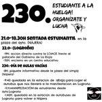 ni en clase ni en casa ESTUDIANTES A LA HUELGA ! #huelga23oct http://t.co/biSf1QfsxX