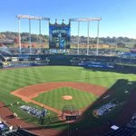 RT @Royals: Good morning from Kauffman Stadium. #WorldSeries Game 1 starts here in less than 10 hrs! #TakeTheCrown #Royals http://t.co/cLFfd4FWzL