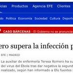 RT @carlosgomezgil: Teresa Romero supera la infección por ébola, MAGNÍFICA NOTICIA! Ahora nos falta superar la infección por el PP. http://t.co/1KZvGFHzRP