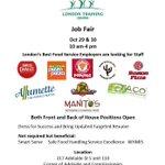 RT @London_Training: Food Service Job Fair - Oct 29 & 30 in #LdnOnt http://t.co/2rirDu7w6r @SmartAPPetite @EoLdn @ESC_LM @LondonOnBuzz http://t.co/dDuwkm5RTX