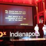RT @robbyslaughter: At #tedxind DeShong Perry-Smitherman and Ericka Gibson at @agirlsgift on helping girls start businesses. http://t.co/lCTLnvhNHL