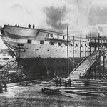 RT @BeschlossDC: USS Constitution launched today 1797--now US Navys oldest commissioned ship--here 1857-58 restoration: #NARA http://t.co/2mZH5HsZ4a