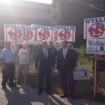 Adrian Wyllie and supporters are outside, upset that @CNN wont let him join the #FLDebate tonight in our studios. http://t.co/IM6AMMpg0l