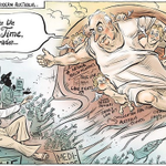 "RT @Doclach: A stunning legacy ""The Creation of modern Australia"" @davpopes respectful cartoon in honour of #GoughWhitlam #auspol http://t.co/o3ue92jntb"