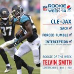 LB @TelvinSmith_22 caused 2 turnovers on Sunday. Hes up for @pepsi @nfl Rookie of the Week: http://t.co/UxWnd3agwQ http://t.co/1Yp9fTm9Qg