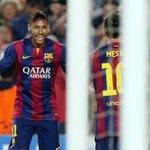 Dos 10 gols de Neymar na temporada, 5 tiveram assistência de Messi. Duo. https://t.co/k12CRTsVvx