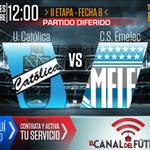 RT @ElCanalDFutbol: Mañana desde las 12:00 mira el partido diferido por la Fecha 8 @UCatolicaEC vs @CSEmelec por https://t.co/JxwT0YFFbJ http://t.co/3y8Uwf9kcS
